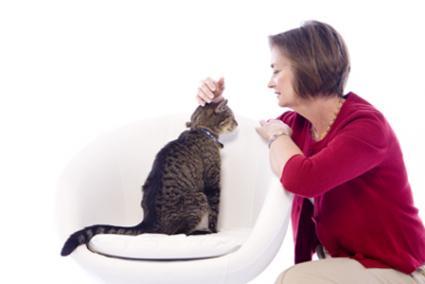 Tác giả Paula Brown và cô mèo Boomer