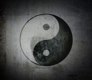 Hình ảnh biểu tượng âm dương đen trắng