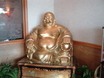 Tượng Phật cười trong nhà