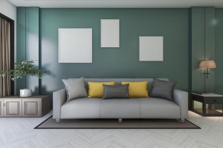 Phòng khách xanh