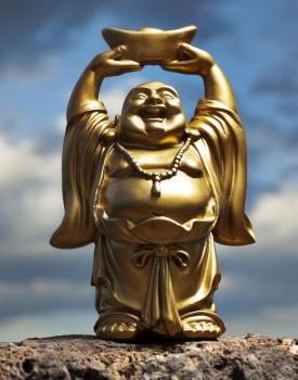Phật đứng hạnh phúc
