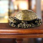 Phong thủy rùa vàng kim loại