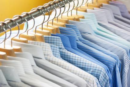 Close-Up Of Shirts Hanging