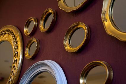 Gương khung trong nhiều hình dạng