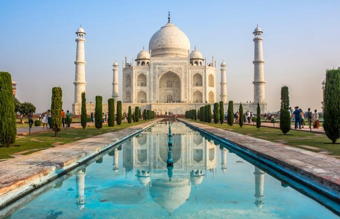 Taj Mahal, một ví dụ kiến trúc của Tỷ lệ vàng