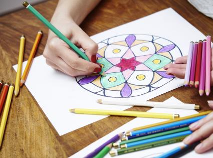 Hand drawing mandala