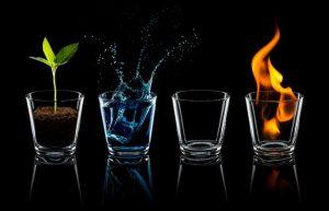 bốn yếu tố trong ly nước