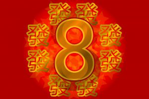 Biểu tượng vàng Lucky 8 của Trung Quốc