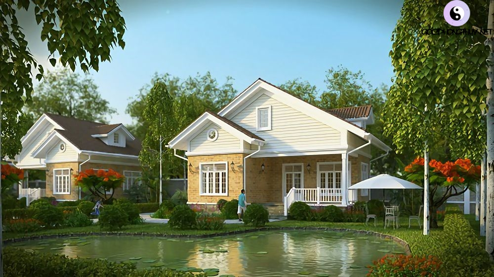 nhà có kết cấu nghênh thủy vượng tài