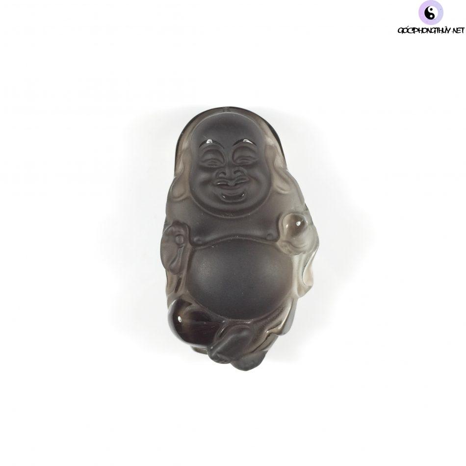 Mặt dây chuyền Phật Di Lặc bằng đá thạch anh khói có giá thành vừa phải