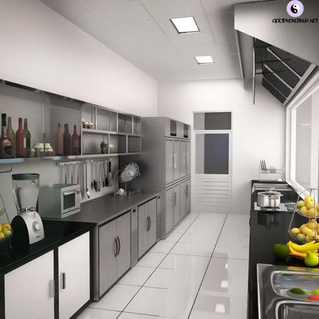 Không đặt bếp gần cống rãnh hay dưới xà ngang