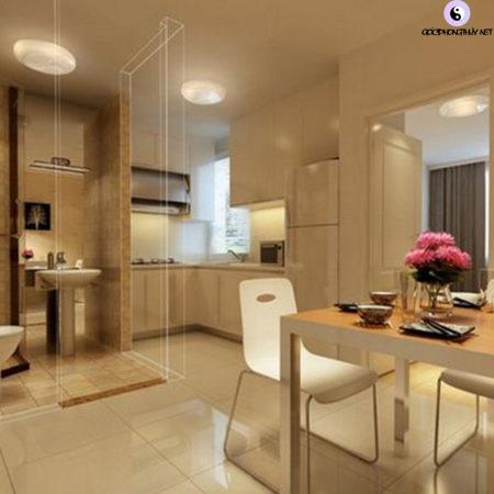 Kiêng đặt nhà bếp đối diện nhà vệ sinh, phòng ngủ