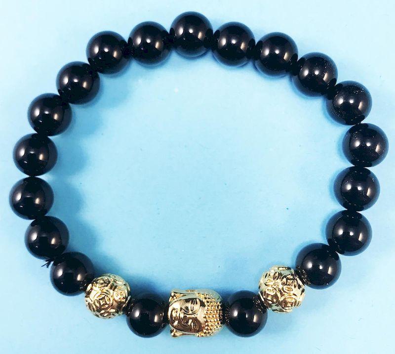 Vòng tay đá Thạch Anh đen là vòng tay phong thủy cho người mệnh Mộc, giúp thu hút tài lộc.