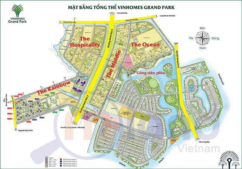Mặt bằng tổng thể khu đô thị Vinhomes Grand Park